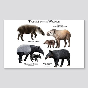 Tapirs of the World Sticker (Rectangle)