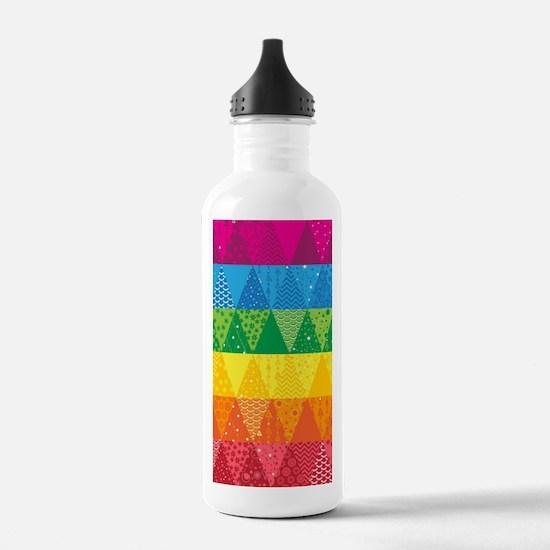 Unique Quilt pattern Water Bottle