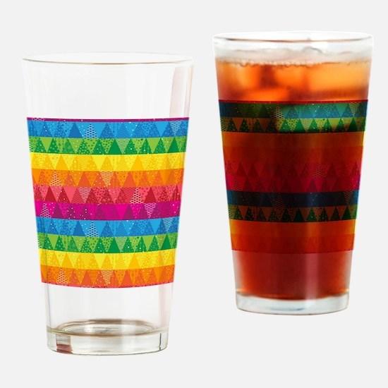 Cute Modern quilt Drinking Glass