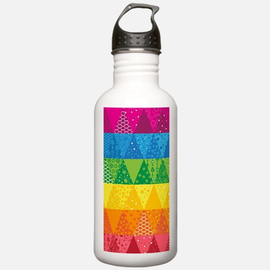 Funny Quilt pattern Water Bottle
