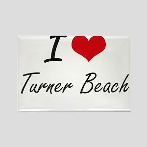 I love Turner Beach Florida artistic desi Magnets