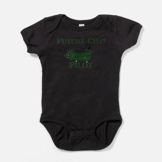 Cute Chinook Baby Bodysuit