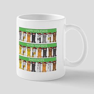 Happy Holidays Bartender Mugs