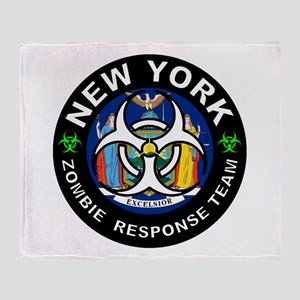 NY ZRT White Throw Blanket
