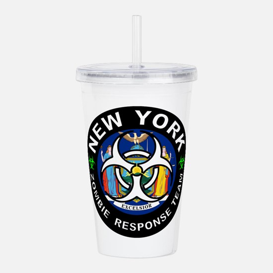 NY ZRT White Acrylic Double-wall Tumbler