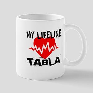 My Life Line Tabla Music 11 oz Ceramic Mug