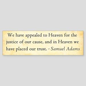 Samuel Adams - Appeal To Heaven Bumper Sticker