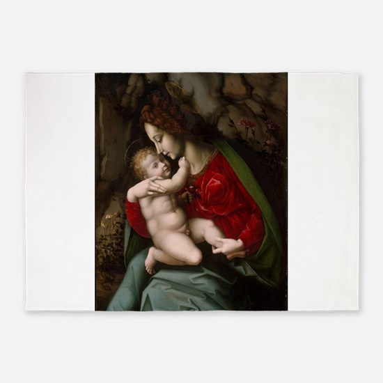Virgin and Child 5'x7'Area Rug