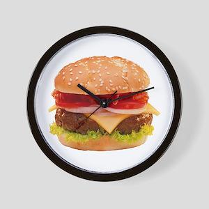yummy cheeseburger photo Wall Clock