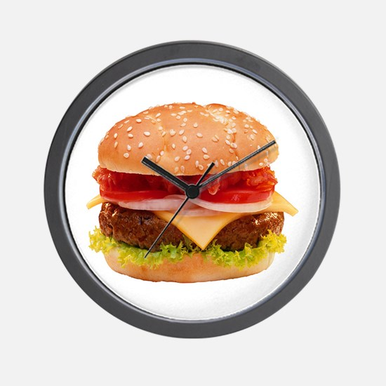 yummy cheeseburger photo Wall Clock