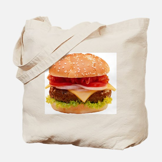 yummy cheeseburger photo Tote Bag