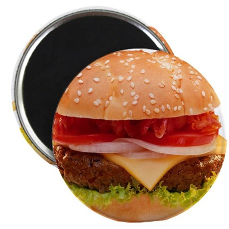 "yummy cheeseburger photo 2.25"" Magnet (100 pack)"
