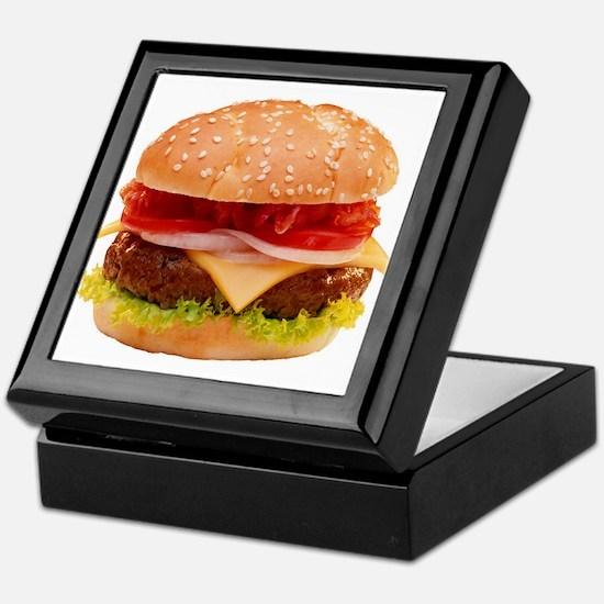 yummy cheeseburger photo Keepsake Box