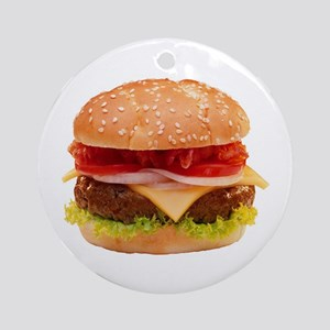 yummy cheeseburger photo Ornament (Round)