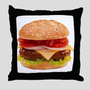 yummy cheeseburger photo Throw Pillow