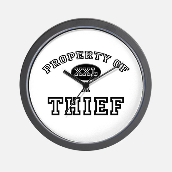 Property of a Thief Wall Clock