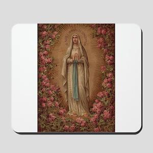 Our Lady Of Lourdes Mousepad