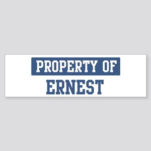 Property of ERNEST Bumper Sticker