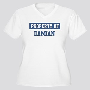 Property of DAMIAN Women's Plus Size V-Neck T-Shir
