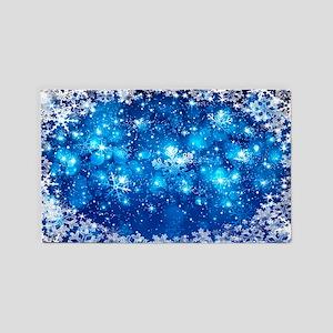 Snowflakes (Blue) Area Rug