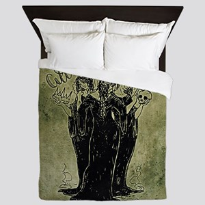 Witches All Hail Macbeth Queen Duvet