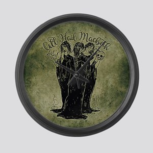 Witches All Hail Macbeth Large Wall Clock