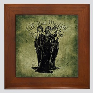 Witches All Hail Macbeth Framed Tile