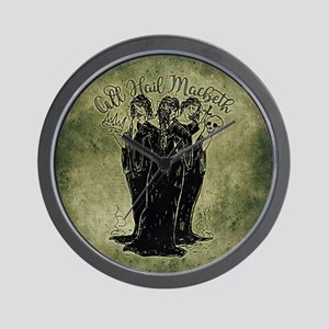 Witches All Hail Macbeth Wall Clock
