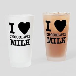 I love chocolate milk Drinking Glass