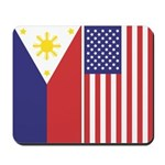 Philippine Flag & US Flag v2 Mousepad
