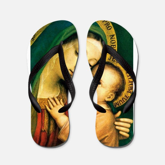 Our Lady Of Good Counsel Flip Flops