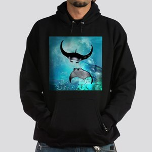 Awesome swimming manta Hoodie