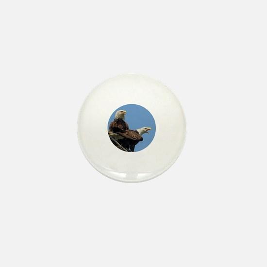 Cute White eagle Mini Button