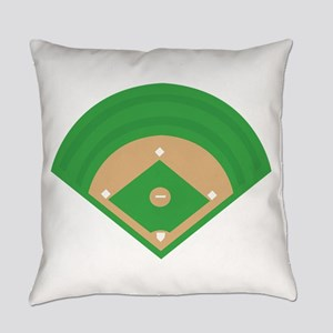 BaseballField_Base Everyday Pillow