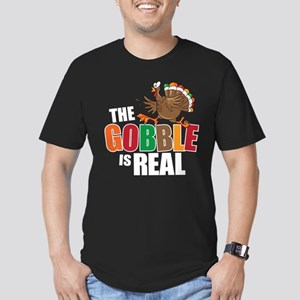 Gobble Is Real Men's Fitted T-Shirt (dark)