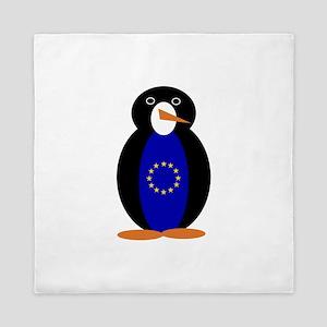 Penguin of the European Union Queen Duvet