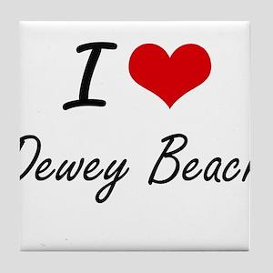 I love Dewey Beach Delaware artistic Tile Coaster
