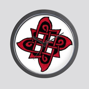 Red & Black Celtic Knot Wall Clock