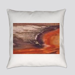 purple and orange tones Everyday Pillow