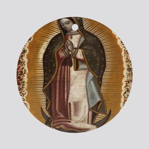 Our Lady Of Guadalupe Round Ornament