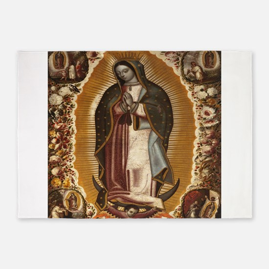Our Lady Of Guadalupe 5'x7'Area Rug