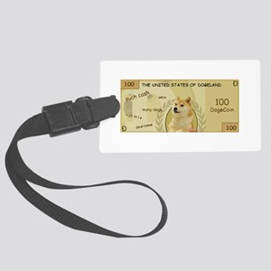 Dogecoin 100 Doge Bill Large Luggage Tag