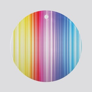 Color Line Round Ornament