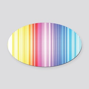 Color Line Oval Car Magnet