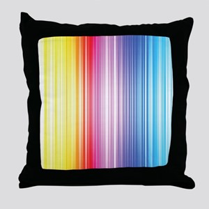 Color Line Throw Pillow