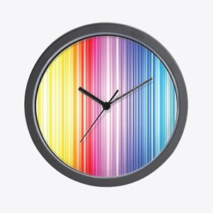 Color Line Wall Clock