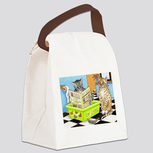 Cat 464 Canvas Lunch Bag