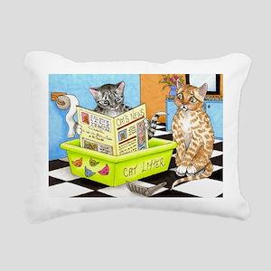 Cat 464 Rectangular Canvas Pillow