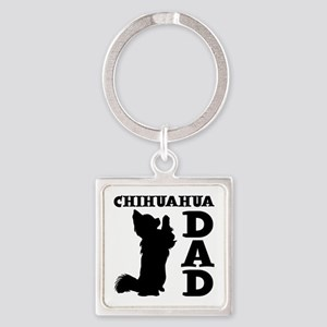 CHIHUAHUA DAD Square Keychain