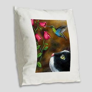 Cat 571 Burlap Throw Pillow